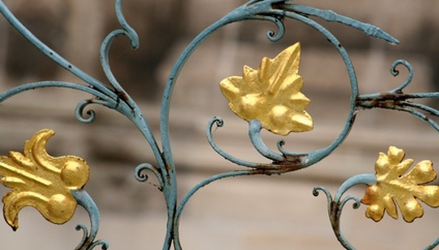 Iron can be painted for an ornate effect.