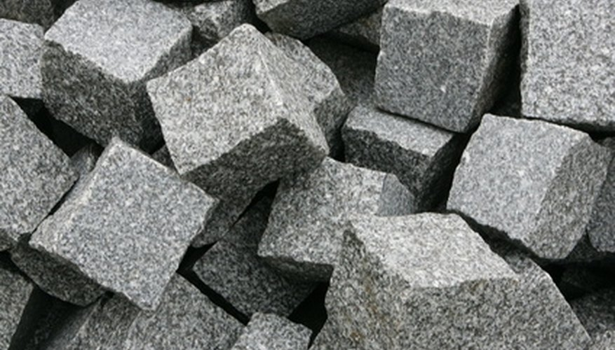Granite blocks that break down into gravel are used in landscaping.