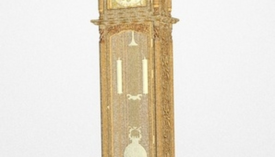 Prepare a grandfather clock carefully before moving to prevent damage.