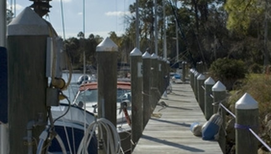 A boat dock is a decked surface built out over the water