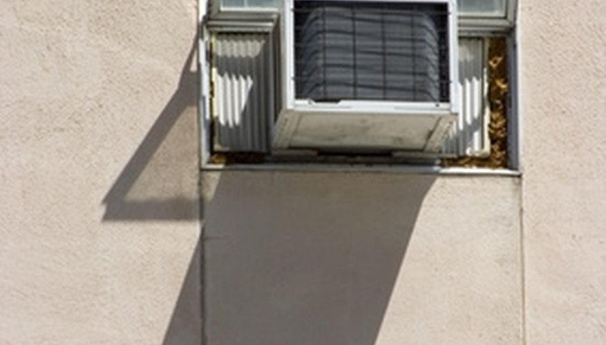 Window air conditioners are widely used in apartment buildings.