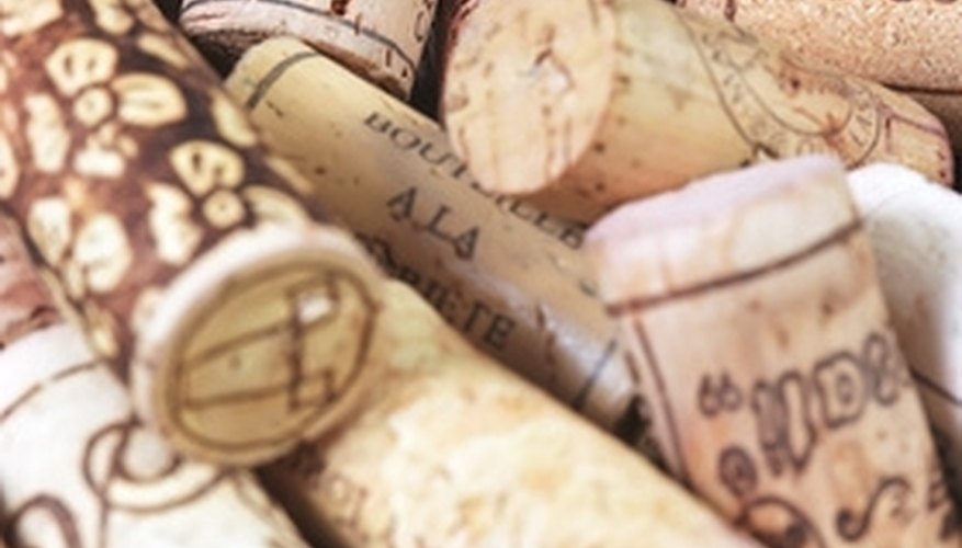 Cover a table in wine corks for a vintage look.