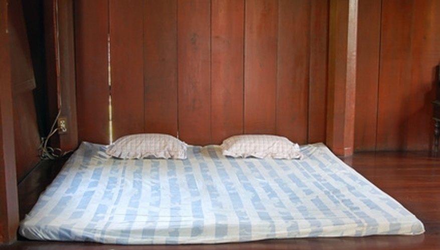 Bed frames offer mattress support.