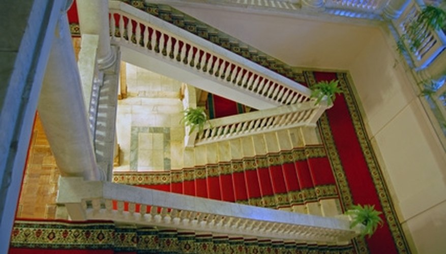 Paint the floors and railing around your stairs.