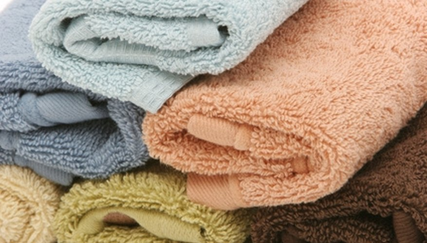 Group of cotton towels