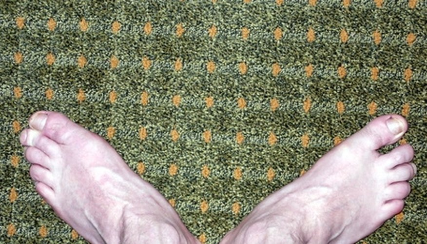 After drying out a wet carpet, walk on it to make sure it and the padding are dry.