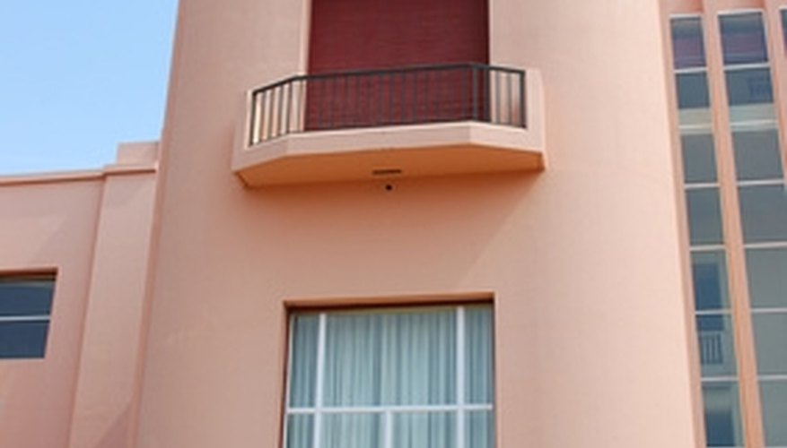 When synthetic stucco fades, it can be stained or painted any color.
