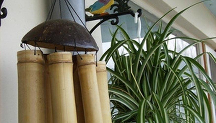 Bamboo wind chimes make distinctive, more subtle, music.