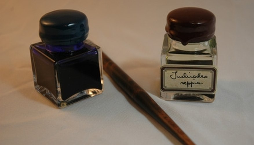 Ink stains can usually be dissolved with rubbing alcohol or hydrogen peroxide.