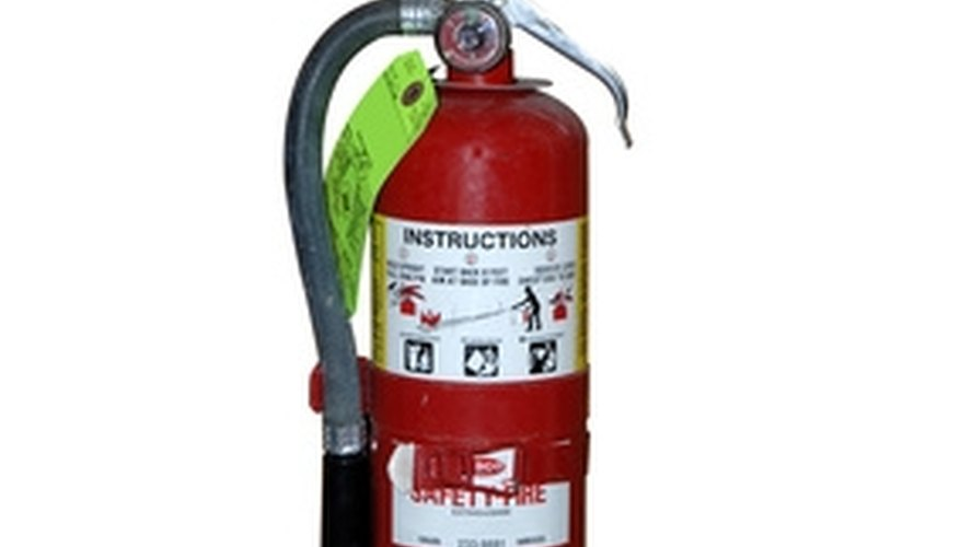 Be aware of what kind of fire extinguisher you are using
