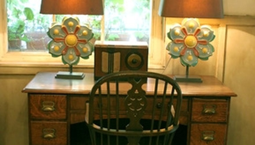 A refinished surface can give an antique desk new life.