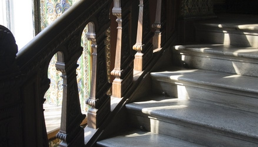To refinish old stairs, you must start by removing the existing paint finishes.