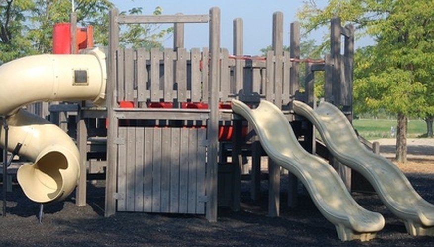 Safety is the most important consideration when building an outdoor playground.