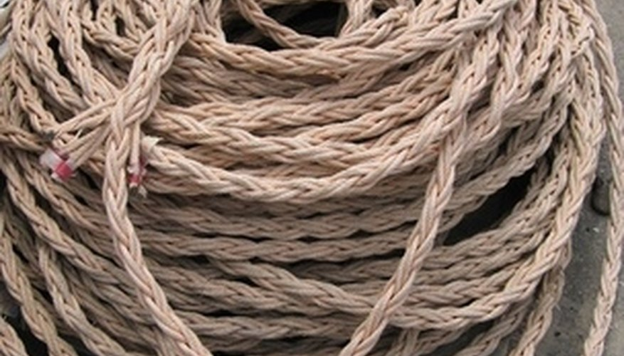 Jute cord is a strong and inexpensive material for repairing chair seats.