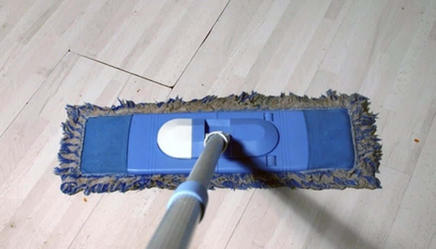 Vinyl floors can be refinished with paint.