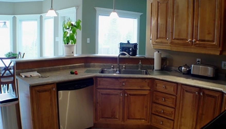 Pendant lights add decor to your kitchen while increasing light in the area.