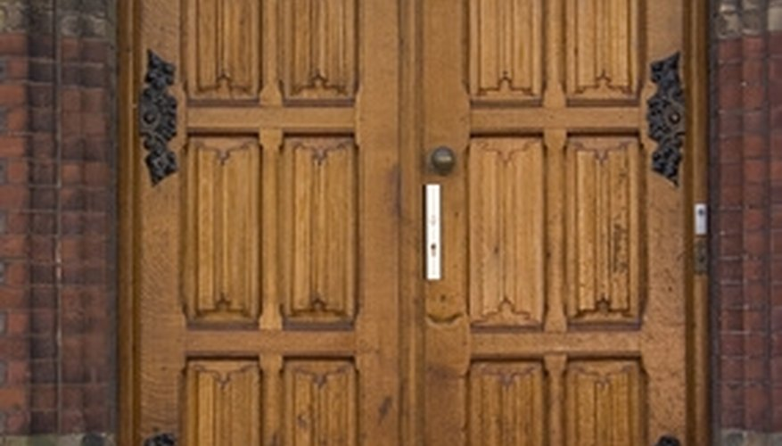 Adding extra barrel bolts and upgrading the deadbolt adds strength to double doors.