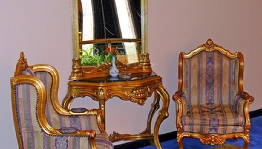 A damaged wingback chair can be repaired at home.