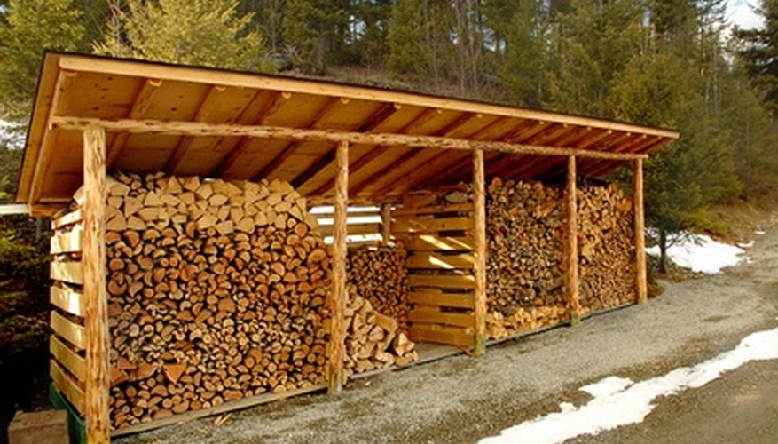 A firewood shed will keep your firewood organized.