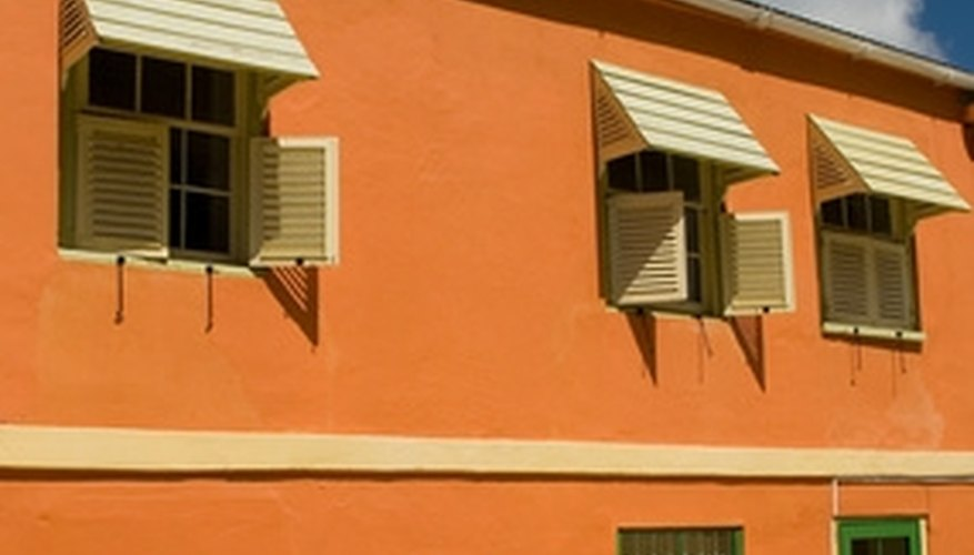Aluminum awnings for windows take less than an hour to install and hold up against inclement weather.