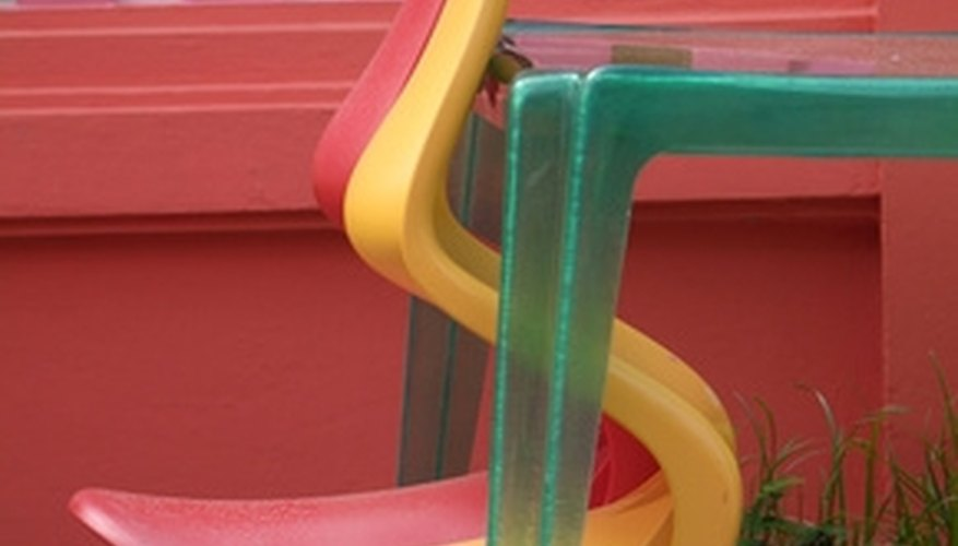 Plastic furniture is manufactured from thermoplastics.