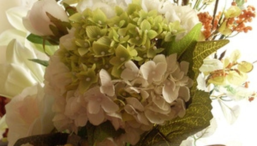 Dry and spray paint your hydrangea to keep them beautiful longer.