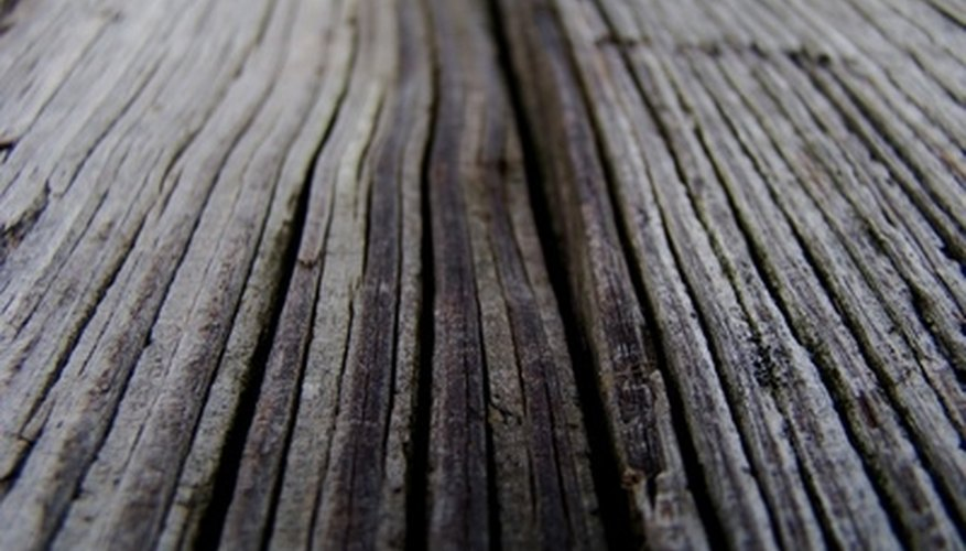 Oxidation can leave wood looking gray and faded over time.