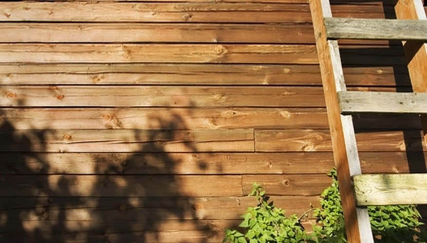 Build a wooden ladder to access higher areas around your home.