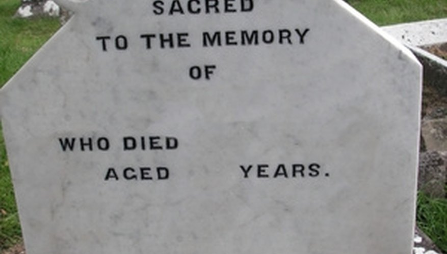 Media blasting is commonly used to inscribe monuments, including most modern headstones.