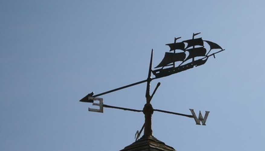 Weathervanes add a decorative touch to homes.