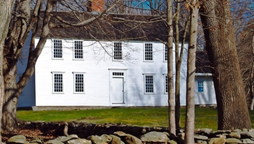 White on white is a traditional color scheme for Colonial homes.