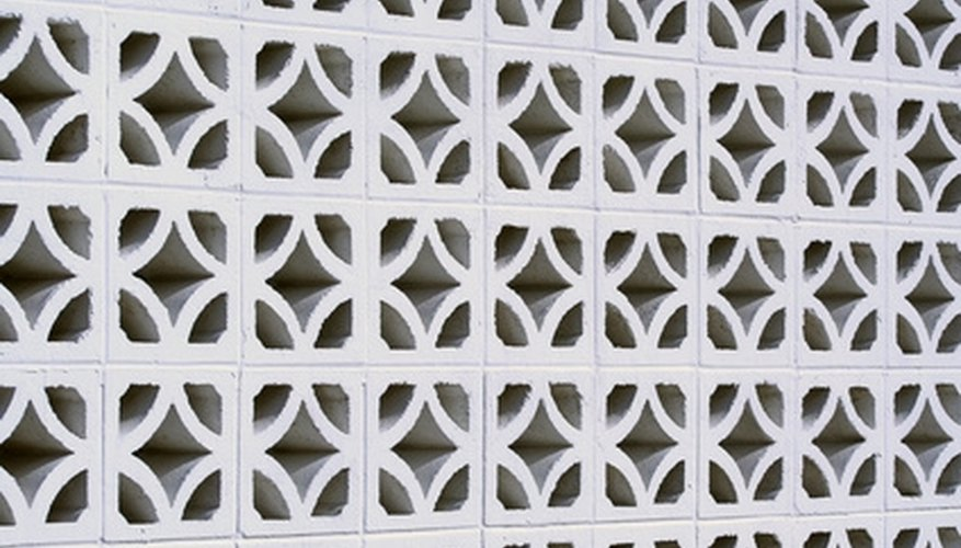 Polystyrene beads are often used to insulate the cavities of concrete blocks.