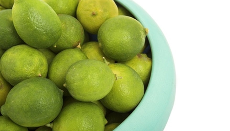 Key limes are the variety of limes for key lime pie.