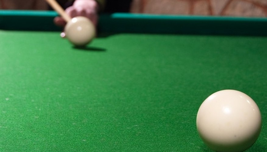 Remove stains from your pool table felt in a timely manner to keep your pool games on target.