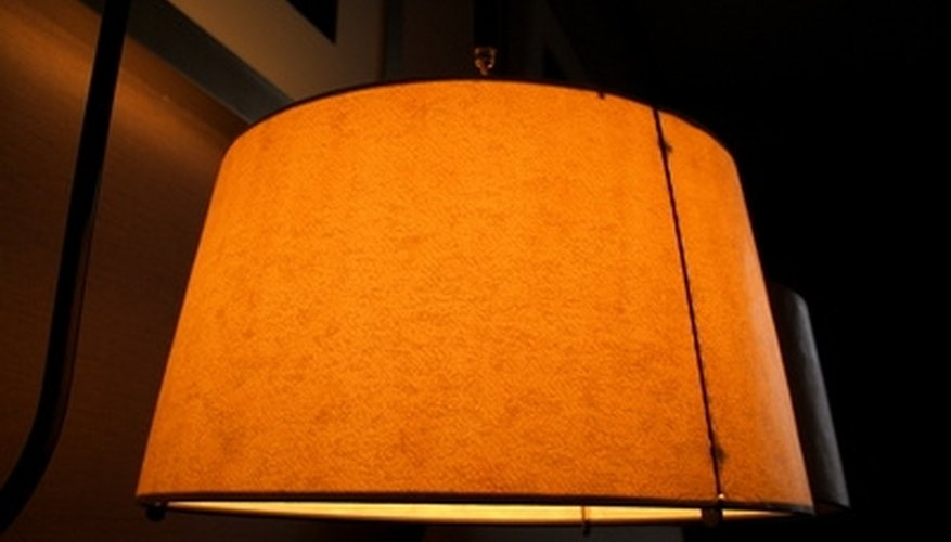 Floor lamp shades come in different shapes and sizes.