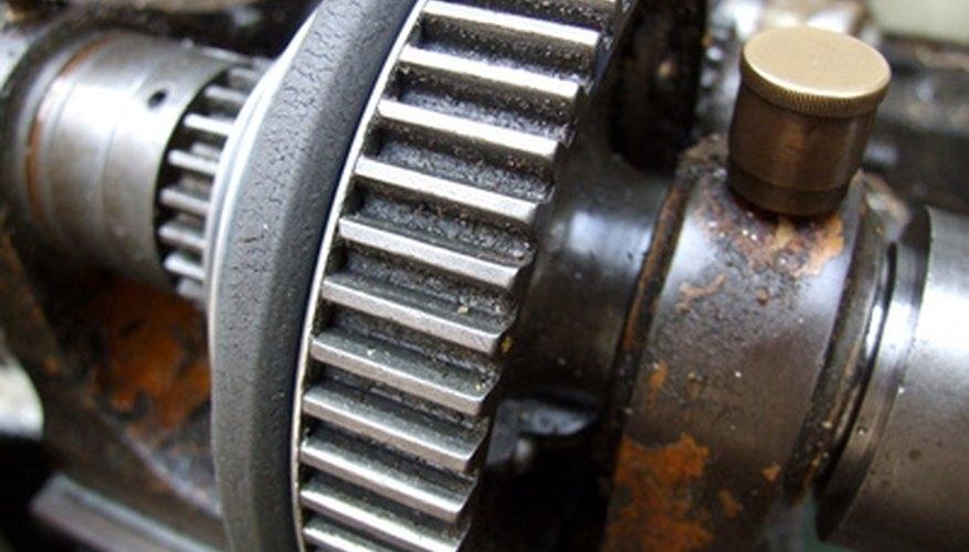 Lathes work by turning metal.
