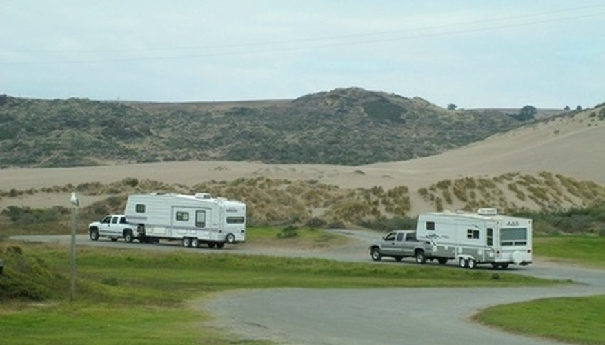 Modern fifth-wheel RV's have all the comforts and convenience of a house.