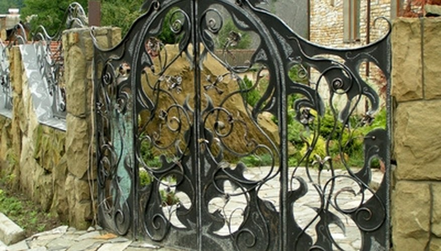 Hanging wrought iron gating adds a historical design element to many homes.