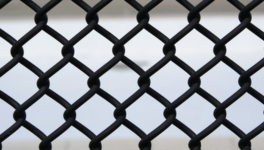 Chain link fences come in colors as well as a natural metal finish.
