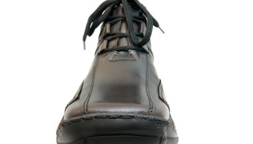 Rubber shoe soles can disconnect or crack over time.