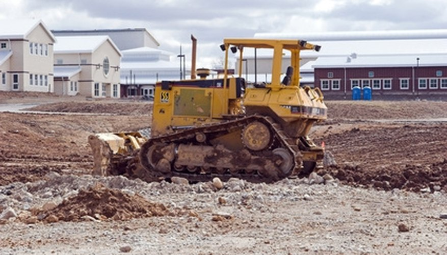 The Caterpillar D8R is a common sight on construction projects.