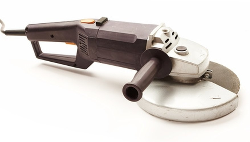 The angle grinder is a common wall grinding tool.