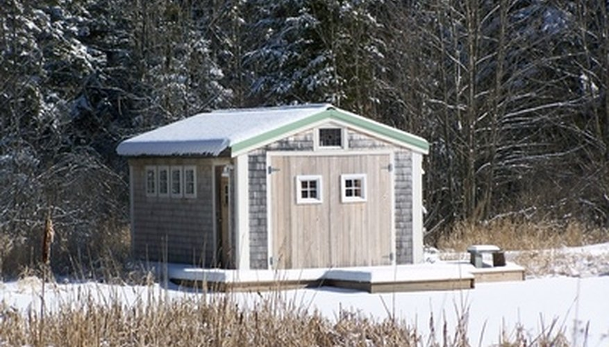 Small sheds built with a wood floor deck should be elevated from the ground.