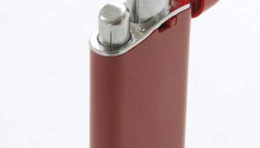 Hand-held lighters use lighter fluid for fuel.