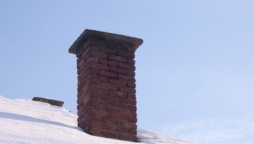 Cracks in a brick chimney may reduce its efficiency.