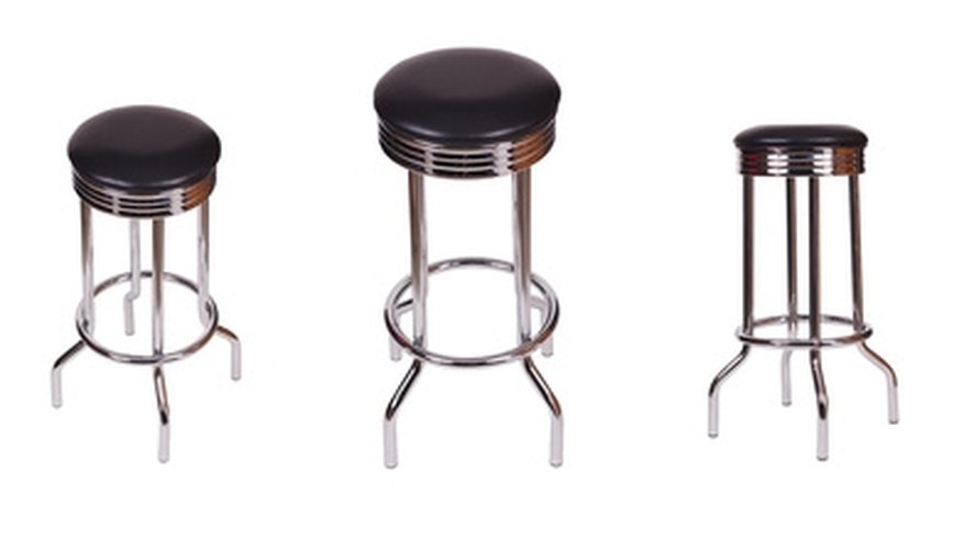 You want bar stools to be the correct height to make sitting at your bar comfortable.