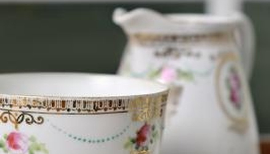 English bone china is an element of British Colonial decor.