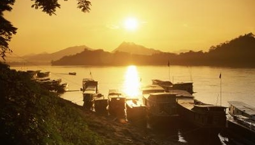 The Mekong River runs through much of Southeast Asia, including Laos and Cambodia.
