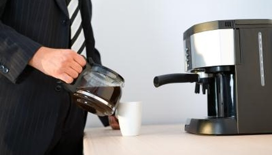how to clean stains off coffee pot