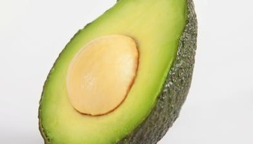 Avocados are mostly green in color.